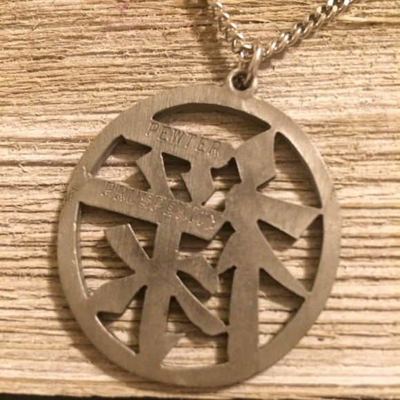 Jewelry Solid Pewter Chinese Symbol Necklace Poshmark
